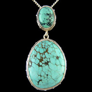Double Turquoise Pendant