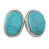 Turquoise Crystal Stud Earrings