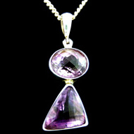 Two Amethyst Crystal Pendant