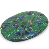 Lapis Lazuli and Malachite Palm Stone