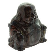 Tiger Iron Buddha Crystal Carving