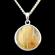 Gold Rutilated Quartz Pendant