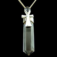 Amethyst and Quartz Point Pendant