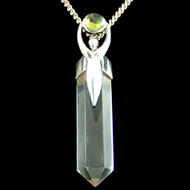 Peridot and Quartz Point Pendant