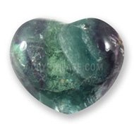 Rainbow Fluorite Crystal Heart