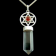 Hexagram Point Quartz Pendant