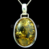 Oval Amber Pendant