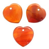 Carnelian Heart Crystal Beads