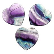 Fluorite Heart Crystal Beads