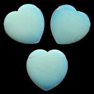 Opalite Heart Crystal Beads
