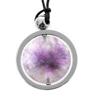 Swivel Amethyst Crystal Pendant