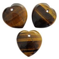 Tiger Eye Heart Crystal Beads