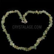 Epidote & Prehnite Chip Necklace