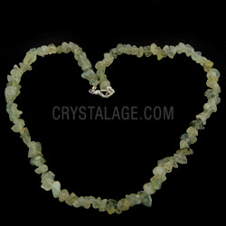 Epidote & Prehnite Chip Necklace