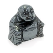 Hematite Carved Sitting Buddha