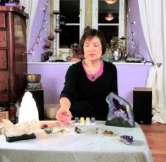 Crystal Healer with Energy Domes