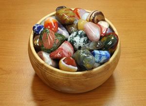 Bowl of Tumble Stones