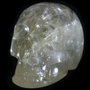 Tourmalinated Quartz Crystal Skull
