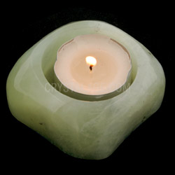 Jade Shallow Tea Light Holder