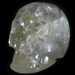 Tourmalinated Quartz Crystal Skull