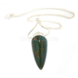 Bloodstone Double Stone Pendulum