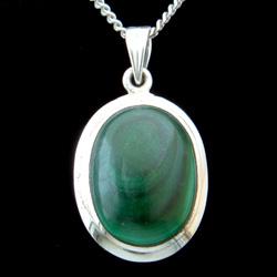 Malachite & Silver Pendant