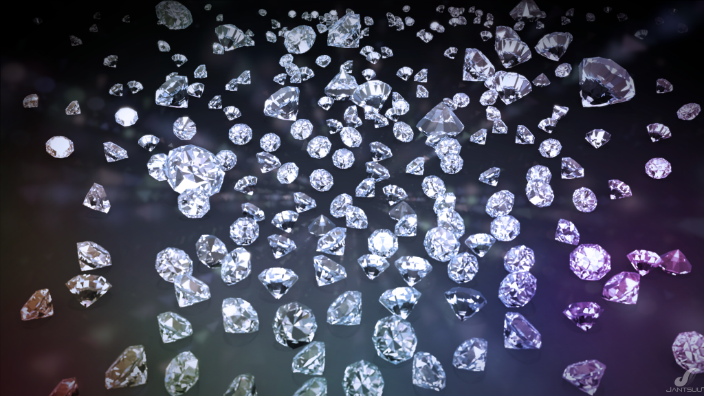 Diamonds are largely sorted by hand
