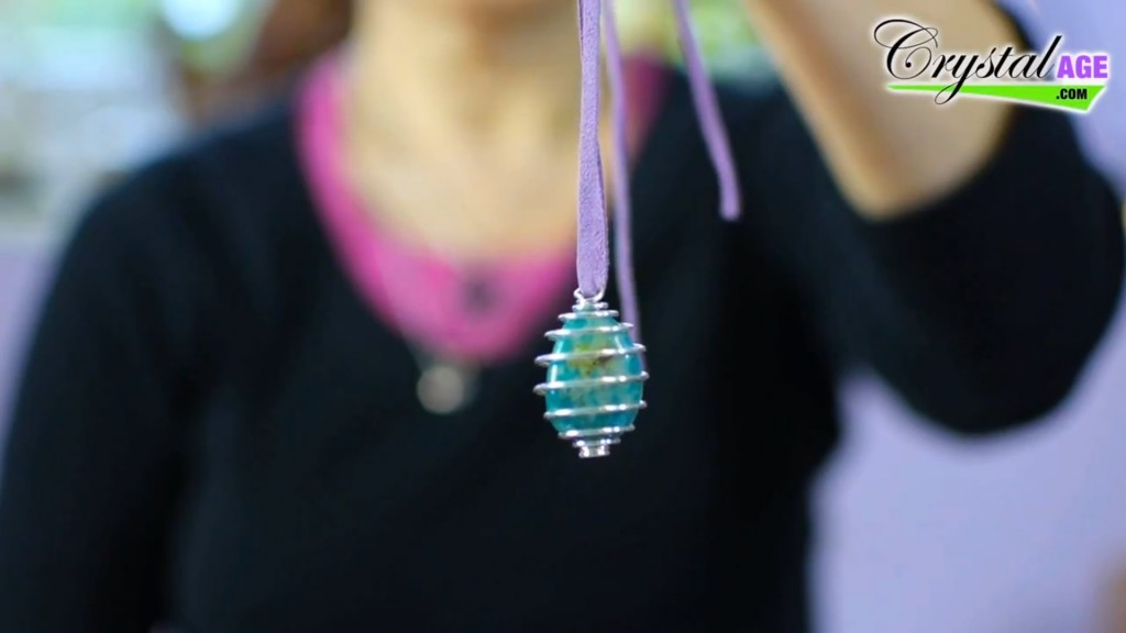 A Crystal Cage Pendant