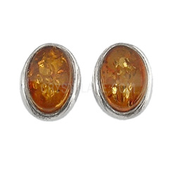 amber-and-silver-gemstone-earrings-small-oval-8mm